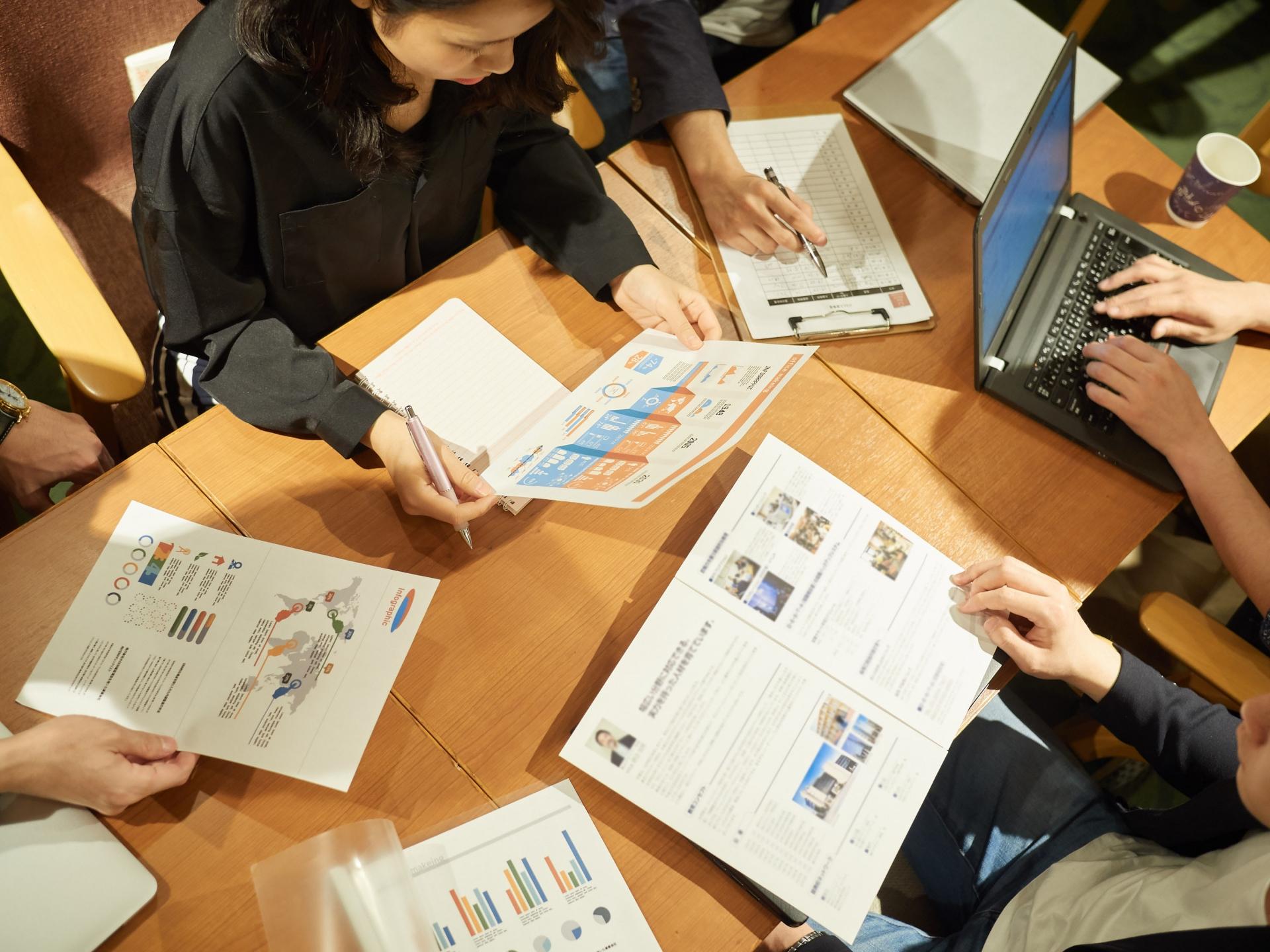 顧客ごとの情報管理事例の写真